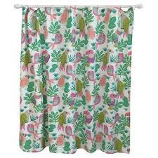 Bright Green Shower Curtain Parakeet Paradise Shower Curtain Bright Fern Pillowfort Target
