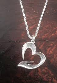 stainless steel rope necklace images Pewter my whole heart in your hand pendant with a 24 quot stainless jpg