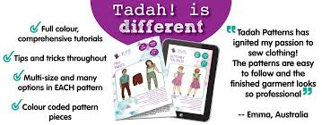tadah patterns celebrate modern sewing with fun patterns and fabric