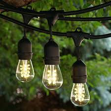 commercial outdoor string lights led outdoor string lights black commercial grade medium with