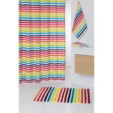 Tapis Salon Multicolore by Tapis De Bain 100 Coton Blanc Rayures Multicolores Shine 60x100cm