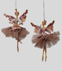 this ornate snow ballerina ornament is leaping