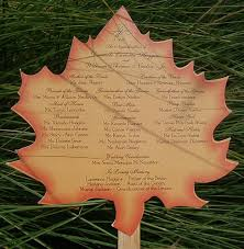 fall wedding programs maple leaf wedding program fan canada new york city