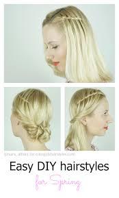 cute girl hairstyles diy easy diy hairstyles for spring cute girls hairstyles
