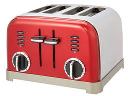 4 Slice Toasters On Sale Cuisinart Metal Classic 4 Slice Toaster Metallic Red Cpt 180mr
