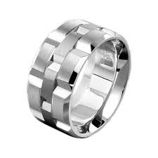 mens wedding rings white gold carlex white gold rectangular pattern men s wedding ring king