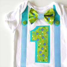 birthday onesie boy 1st birthday onesie boys bow tie and suspenders greens and blues