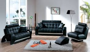 sofa cozy raymour flanigan black leather sofa set complete with