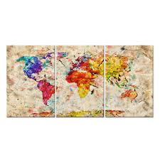 World Map Art Print by Online Buy Wholesale Map Artwork From China Map Artwork