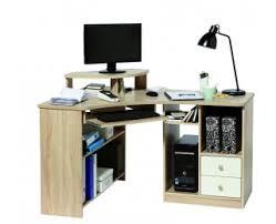 bureau informatique angle d angle informatique angle gauche tanga blanc chêne