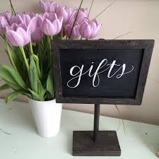 wedding gift table sign chalkboard sign customized sign gift table sign wedding
