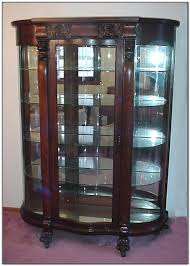 curved glass china cabinet antique curved glass china cabinet value cabinet home decorating