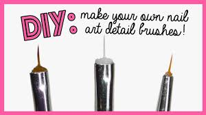 diy make your own nail art detail brushes youtube