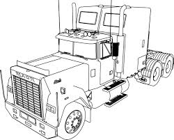 mack superliner long trailer truck coloring page wecoloringpage