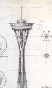 more preliminary designs of the space needle for the 1962