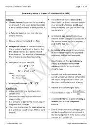 general mathematics financial maths hsc note learnhscmaths