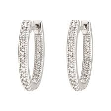 small white gold hoop earrings small oval hoop earring white gold mccaskill company