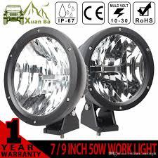 xuanba cree 9 inch 50w round led work light 12v driving fog lamp