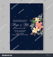 Bridal Invitation Cards Wedding Invitations Anemone Flowers Anemone Bridal Stock Vector