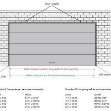 size of a 3 car garage double car garage door dimensions ideal 3 remodel pinterest 8 ft