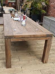 York M Large Teak Dining Table - Reclaimed teak dining table and chairs