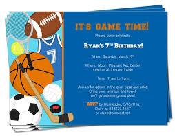 free printable sports birthday invitations drevio invitations design