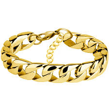 cuban chain bracelet images Miami cuban chain bracelet men stainless steel gold curb chain jpg