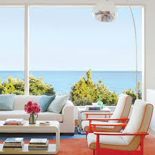Modern Beach Living Room Colorful And Modern Beach House Coastal Living