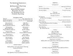 catholic wedding ceremony programs catholic wedding ceremony program europe tripsleep co