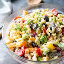 pasta slad rainbow macaroni salad real housemoms
