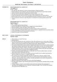 resume exles for dental assistant registered dental assistant resume sles velvet