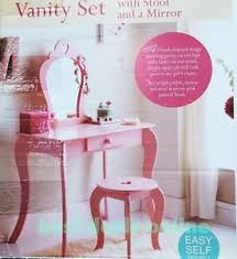 Pink Vanity Table New Childrens Wooden Pink Amelia Vanity Set Dressing Table With