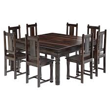 large square dining room table rustic solid wood large square dining room table chair set