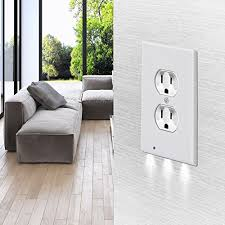 night light outlet cover covers power outlet wall cover with led night light duplex outlet