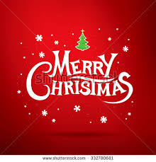 merry christmas lettering christmas greeting card stock vector