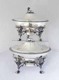 gorham pair coin silver serving dishes w burner stand 1860 at 1stdibs
