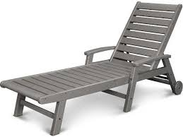 Plastic Chaise Lounge Polywood Signature Recycled Plastic Wheel Chaise Lounge Sw2280