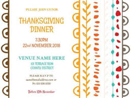 invitations maker thanksgiving party invitations maker by design wizard