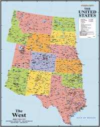 map usa west western states usa wall map from maps rodeo