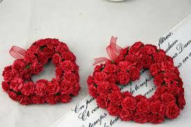 Rose Flower Images Aliexpress Com Buy Artificial Paper Rose Flower Door Wreaths