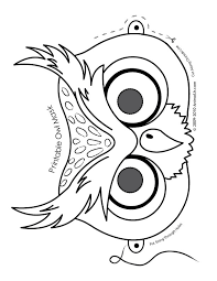 o is for owl cute printable halloween animal paper masks owl mask