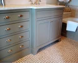 Cottage Bathroom Vanity by Gray Bathroom Vanity Cottage Bathroom Urban Grace Interiors