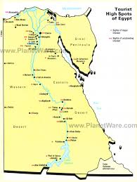 Map Of Egypt In Africa by Map Of Populat Tourist Spots In Egypt Planetware