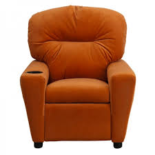 comfy microfiber recliner chair for kids with cup holder