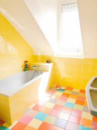 attic bathroom ideas yellow