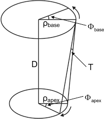 a sketch of a basal and an apical plane and the torsion open i