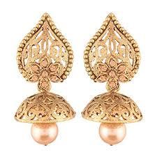 jhumkas earrings buy i jewels high gold plated jhumki jhumkas earrings for women