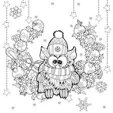 zentangle christmas owl irina yazeva christmas coloring