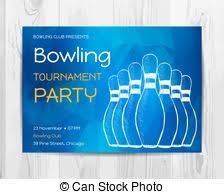 bowling party invitation template a vector illustration of