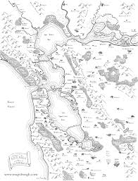 San Francisco Bay Map by Awesome Maps Depict The Bay Area As A Colony Of Middle Earth